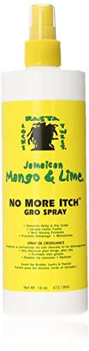 - Jamaican Mango No More Itch Gro Spray, 16 Ounce