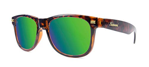 Knockaround Fort Knocks Polarized Sunglasses, Glossy Tortoise Shell/Green Moonshine
