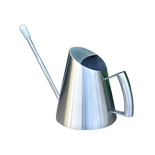 Calunce Modern Style Watering Pot Brushed Stainless Steel Watering Can (32 - 32 Ounce Cans