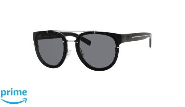 e416b40531d4c Amazon.com  Dior Homme 143S E3Z Black Crystal Black Tie 143S Round  Sunglasses Lens Category  Dior Homme  Shoes