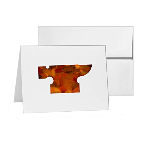 Price comparison product image Anvil Blacksmith Hammer Heavy , Blank Card Invitation Pack, 15 cards at 4x6, Blank with White Envelopes Style 6515