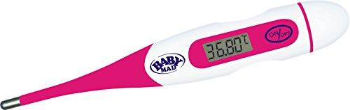 Digitales Basalthermomter (Rosa) zur Zykluskontrolle hilft dabei Eisprung von BabyMad - Flexible Spitze - ideal für die orale Messung