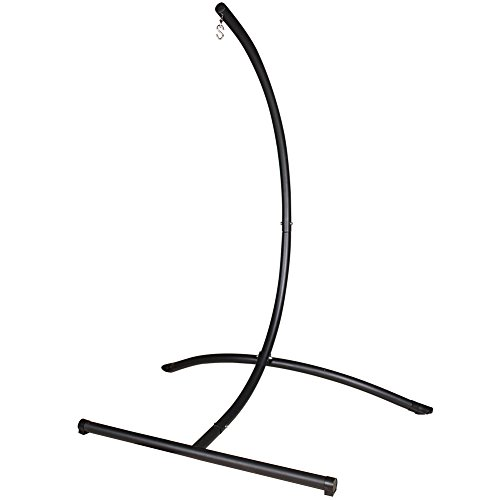 Lazy Daze Hammocks C Shape Steel Hammock Swing Chair Stand for Outdoor and Indoor, 300 Pounds Capacity