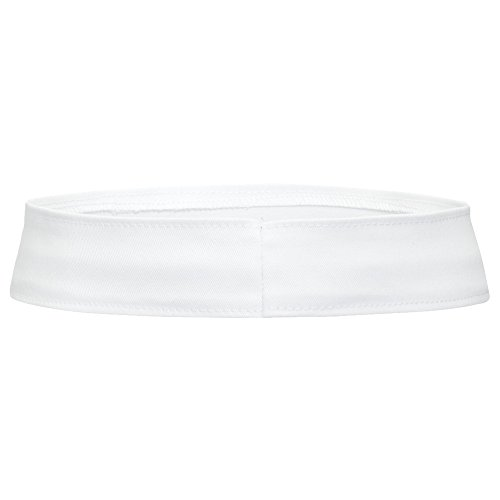(Product of Ottocap Stretchable Cotton Twill Hat Band -White, L [Wholesale Price on Bulk])
