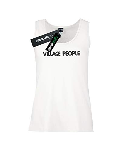 Top Text Femme Village Blanc Cult Tank Absolute People Logo IZxwq4S0