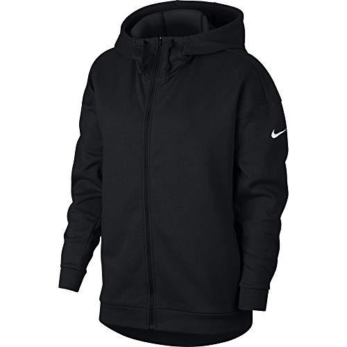 Nike Women's Therma Fleece Training Hoodie Black/White Size Large