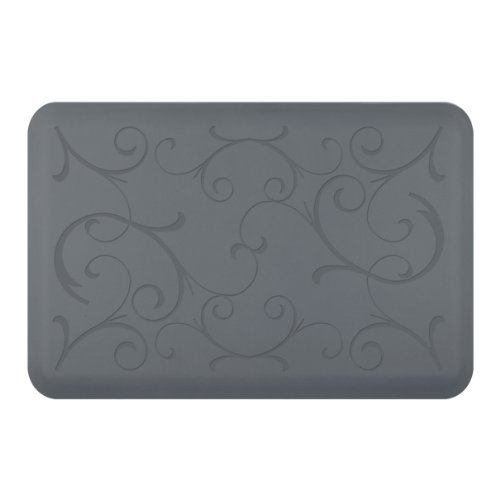 WellnessMats Bella Motif Anti-Fatigue Mat, Gray, 36 Inch by 24 Inch