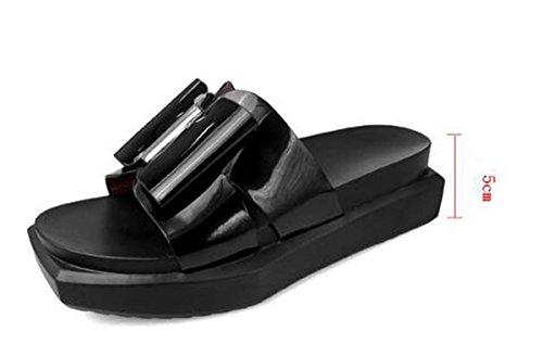PBXP Hausschuhe Frauen OL Elegant Casual Einfache Non-Slip-Familie Komfortable Schuhe EU Größe 35-40 , black , 35