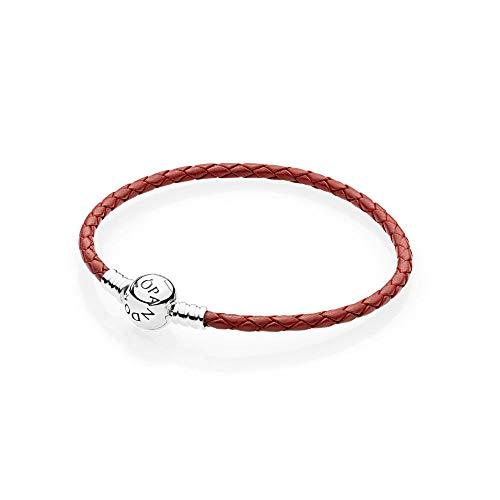 Pandora Red Braided Leather Charm Bracelet 17.5cm 590745CRDS1