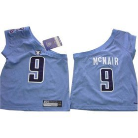 Steve McNair #9 Tennessee Titans NFL Girls/Junior One shoulder Jersey By Reebok