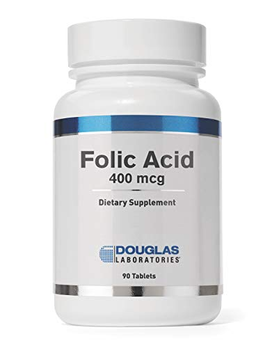 Douglas Laboratories – Folic Acid 400 mcg. – Water Soluble B Vitamin to Support Energy Production and Pregnancy – 90 Tablets