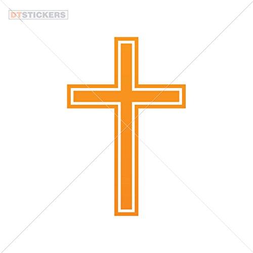 Vinyl Sticker Decal Cross Symbol Atv Car Garage bike (10 X 6,64 In. ) Orange
