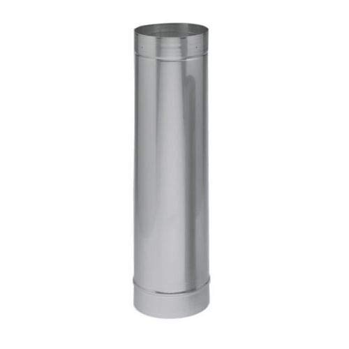Alloy Relining 304 Pipe - Chimney Savers 21992 Heat-Fab Relining Pipe - 304-SS - 10 Inch x 36 Inch Length