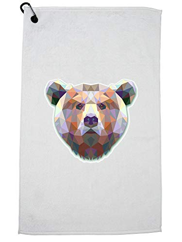 Hollywood Thread Triangle Bear - Colorful Powerful & Majestic Golf Towel with Carabiner Clip
