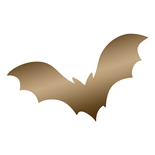 Vampire Bat Flying through the Air Glider- Vinyl Decal for Outdoor Use on Cars, ATV, Boats, Windows and More - Copper 6 inch
