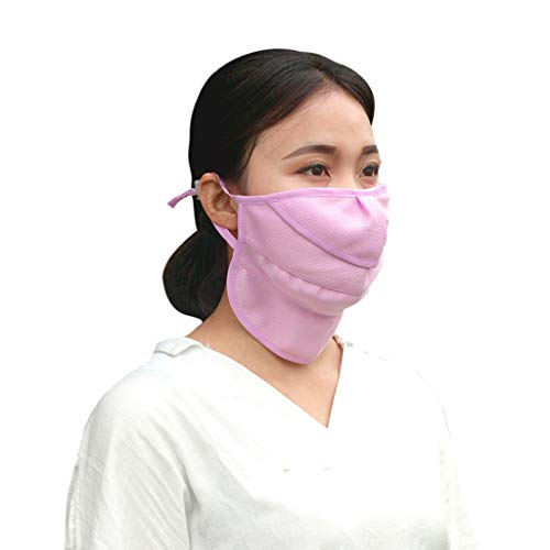 Anti-dust Anti-Spitting Spit Protective Breathable Mask Sun Protection Neck Reusable Cotton Cloth Lightweight Mouth Face Masks Mouth Cover for Man and Woman with Comfortable Earloop