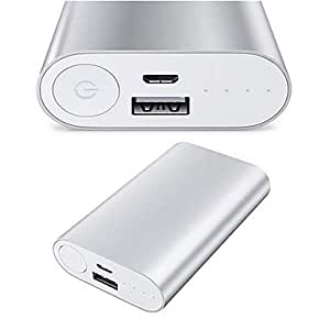 Gen��rico Batería 5000Mah Externa Portable Y 4 En 1 Cable De Carga Usb Para Dispositivos Móviles Negro
