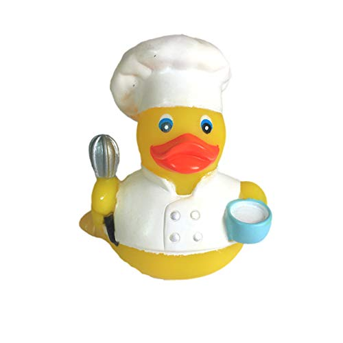 Ad Line Chef Cook Rubber Duck Bath Toy | Sealed Mold Free | Child Safe