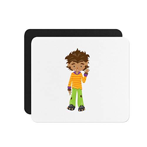 Halloween Kid Werewolf Neoprene Mouse Pad 9.25