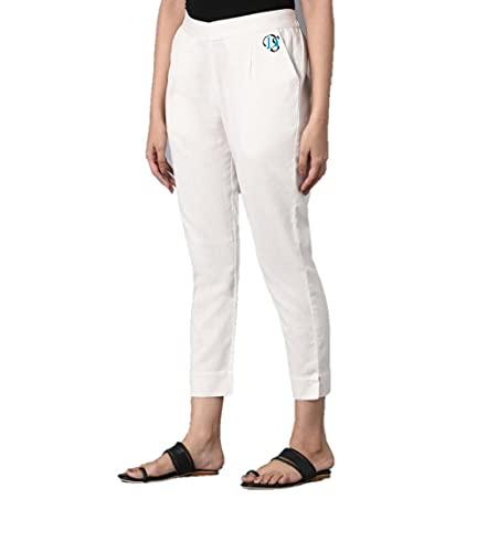 DIGITAL SHOPEE Women Girls Casual Formal Western Stylish Cotton Trouser Regular Fit Plain Pyajama Pants Lowers…