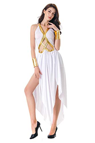 Honeystore Roman Greek Goddess Halloween Princess Costume Grecian Toga Dress Up 1007 XL -