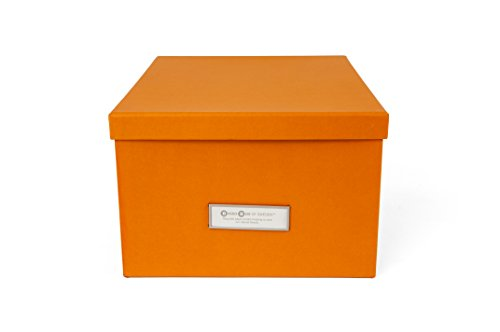 Bigso Gustav Photo/DVD Storage Box, Orange (Box Orange Photo)