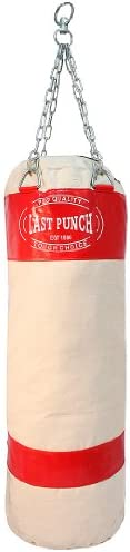 Last Punch Heavy Duty Pro Punching Bag with Chains Empty, Red