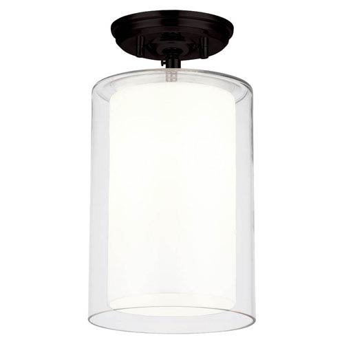 Brushed Nickel Finish with Opal Glass Westinghouse 6461600 One-Light Flush-Mount Interior Ceiling Fixture