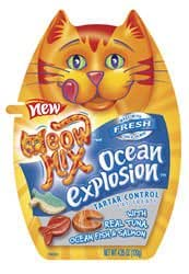 Meow Mix Tartar Control Ocean Explosion Cat Treats (2.1-oz pouch)