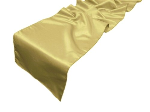 Christmas Tablescape Decor - Elegant Lamour Champagne Satin Matte Finish Table Runner