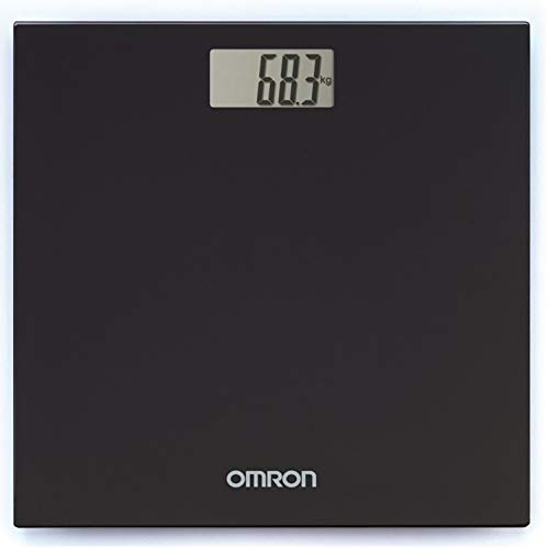 Omron HN 289 (Black) Automatic Personal Digital Weight Machine With Large LCD Display and 4 Sensor Technology For…
