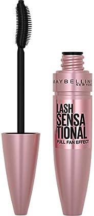 Maybelline New York Lash Sensational Washable Mascara, Blackest Black, 9.5 mL (Packaging May Vary)