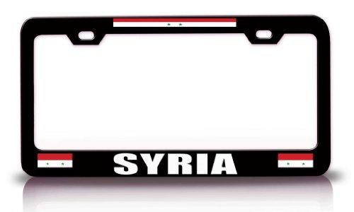 SYRIA Flag Steel Metal License Plate Frame Bl. # 62