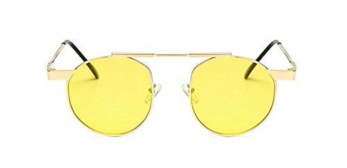 cercle vintage en inspirées métallique rond Lennon polarisées lunettes retro style soleil du Film Jaune de 0qnW1xHwFv