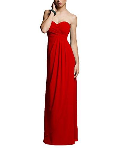 E282LF Strapless Prom Gown Long Chiffon Empire Sweetheart Bridesmaid TalinaDress White Dress B7zqAq