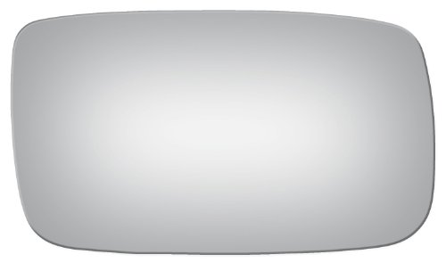 Flat Passenger Right Side Replacement Mirror Glass for 1986-1991 Volvo 240-260 (Volvo 240 Corner)