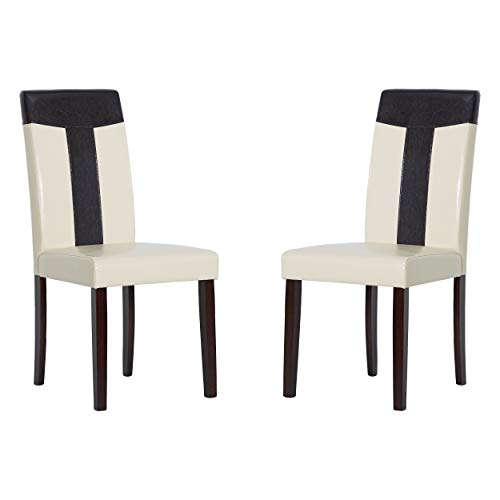 Warehouse of Tiffany Faux Set of 4 Leather Chairs 24091411 4PC Chair