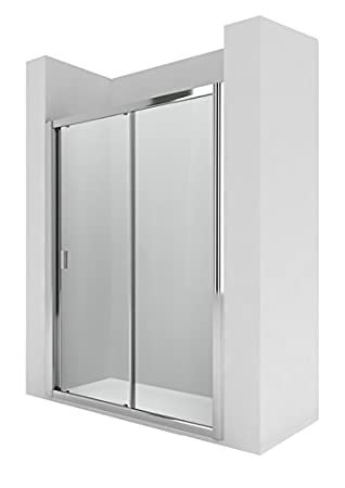 Roca AM13613012 - Mampara de ducha con una puerta corredera y un ...