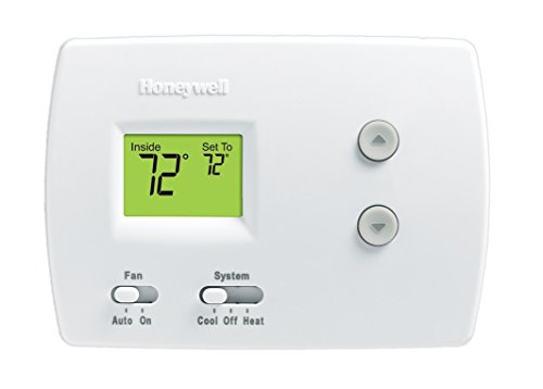 Heating Cooling Thermostat (Honeywell TH3110D1008 Pro Non-Programmable Digital Thermostat)