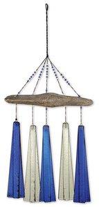 (Sunset Vista Design Studios Sea Breeze Glass Wind Chime, Ocean)