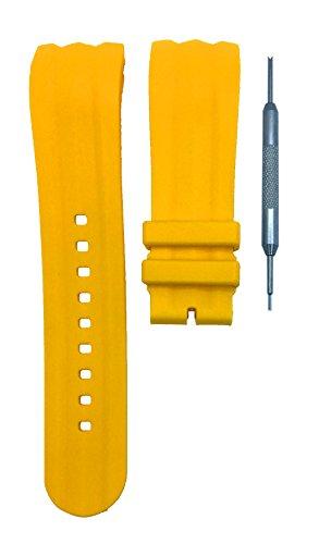 Unisex Orange Silicone Strap LED Watch Set of 2 - 7