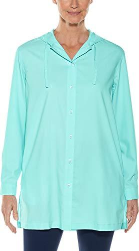 Coolibar UPF 50+ Women's Beach Shirt - Sun Protective (XX-Large- Aqua Sky) -