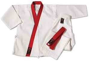 ProForceグラディエーター7.5 Oz Gup Trimmed Tang Soo Do Uniform レッド Size 1 (4' 9\