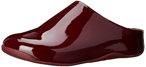 FitFlop Women's Shuv Patent Mule,Hot Cherry,10 M US (Red Clog Patent)
