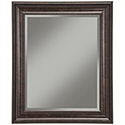 "Sandberg Furniture 14217 Wall Mirror, 36"" x 30"" Wall Mirror, Oil Rubbed Bronze"