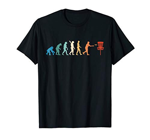 (Disc Golf T-Shirt Evolution Disc Golf T-Shirt Funny)