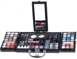Casuelle - Estuche de maquillaje diamante negro: Amazon.es: Juguetes y juegos