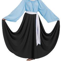 Body Wrappers 501 / 501XX Womens Praise Dance Circle Skirt (Small, Black)