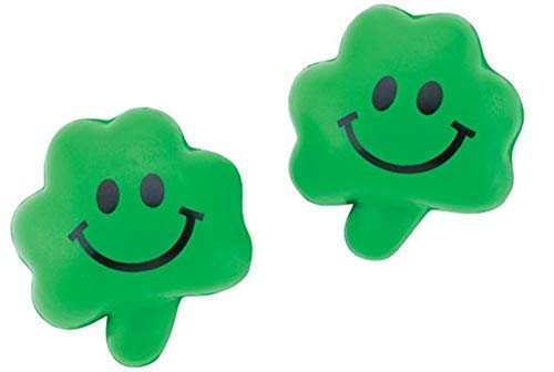 St Patricks Day Squeeze Ball Shamrocks (24 pc per order) Stress Relax Toy Balls