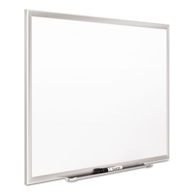 Classic Series Porcelain Magnetic Board, 36 x 24, White, Silver Aluminum Frame, Sold as 1 Each